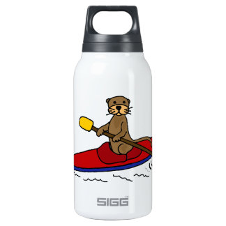 Funny Otter Kayaking Insulated Water Bottle