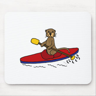 Funny Otter Kayaking Mousepads