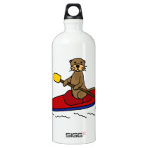 Funny Otter Kayaking Water Bottle