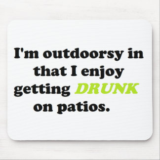Funny Outdoor Drinking Products Mouse Pad