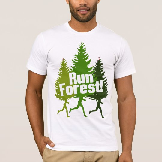 Funny Outdoorsy Run Forest T-Shirt