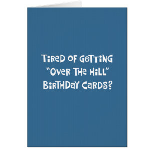 Funny 60th birthday cards greeting photo cards zazzle funny over the hill 60th birthday card m4hsunfo Images