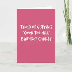 Funny Over The Hill 75th Birthday Card