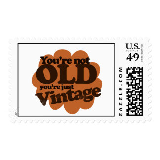 Funny over the hill birthday postage stamp