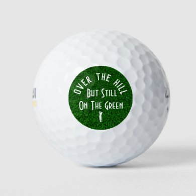 Funny Over The Hill Golf Balls