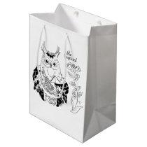 Funny owl 1 medium gift bag