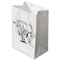 Funny owl 2 medium gift bag