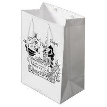 Funny owl 3 medium gift bag