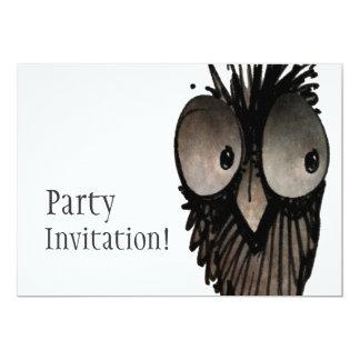 "Funny Owl 5"" X 7"" Invitation Card"