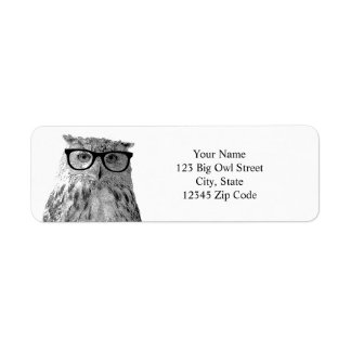 Funny owl address labels