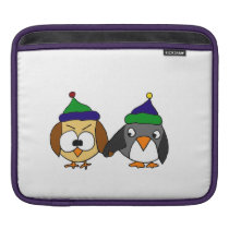 Funny Owl and Penguin Best Friends Sleeve For iPads