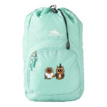 Funny Owl Bride and Groom Wedding Backpack