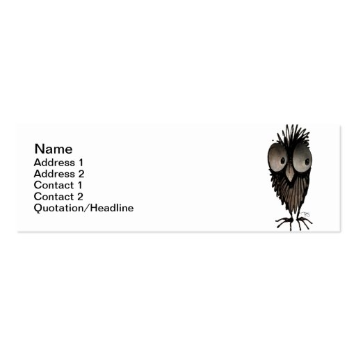 funny owl business card templates zazzle