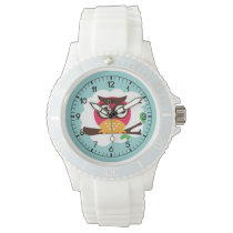 Funny Owl Cartoon Wrist Watch