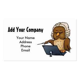 Funny Owl Conductor Cartoon Business Card
