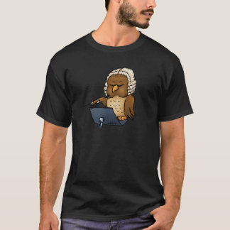 Funny Owl Conductor Cartoon T-Shirt