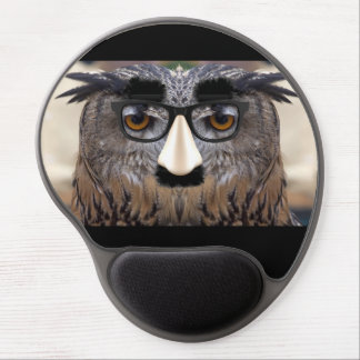 Funny Owl Face With Mask Gel Mousepad