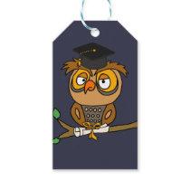 Funny Owl Graduation Cartoon Gift Tags