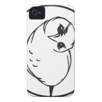 Funny owl iPhone 4 case