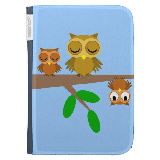 funny owl kindle cases