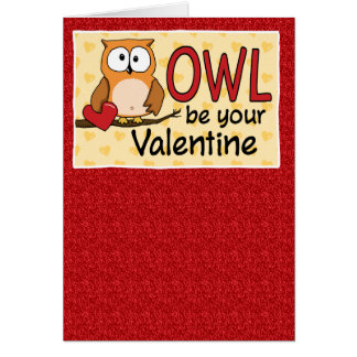Funny Owl Love You Valentine's Day Card