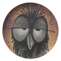 Funny Owl Melamine Plate
