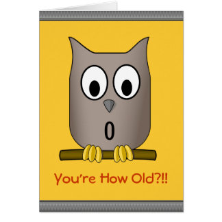 Funny Owl Over The Hill  What a Hoot Birthday Greeting Card
