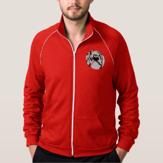 Funny owl sitting in the tree and has the moon jacket