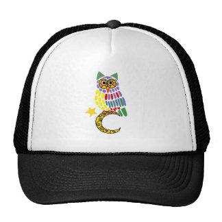Funny owl Sitting on Moon Art Trucker Hat