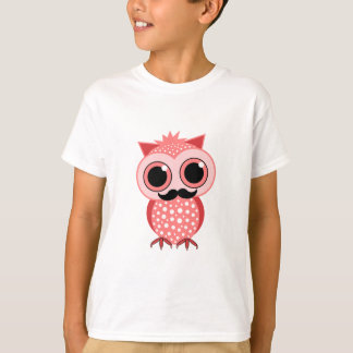 funny owl with mustache T-Shirt