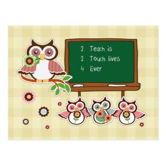 Funny Owls Design Teacher Appreciation Postcards