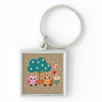 funny owls keychain