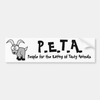funny P.E.T.A. Car Bumper Sticker