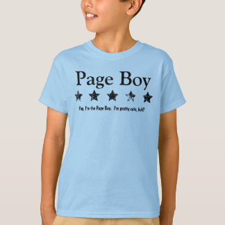 Funny Page Boy Grunge Stars Custom Name A01 T-Shirt