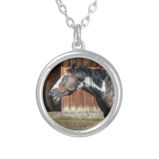Funny Paint Pinto Grinning Horse Photo Bomb Pendants