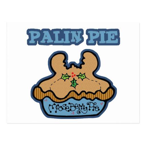 Funny Palin (Moose Berry) Pie Postcard