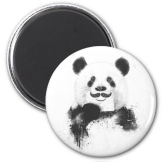 Funny panda 2 inch round magnet