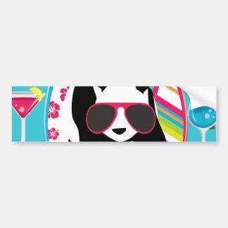 Funny Panda Bear Beach Bum Cool Sunglasses Surfing Car Bumper Sticker