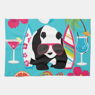 Funny Panda Bear Beach Bum Cool Sunglasses Surfing Hand Towel