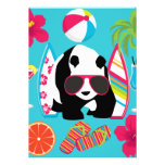 Funny Panda Bear Beach Bum Cool Sunglasses Surfing Personalized Invite
