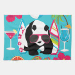 Funny Panda Bear Beach Bum Cool Sunglasses Surfing Towel