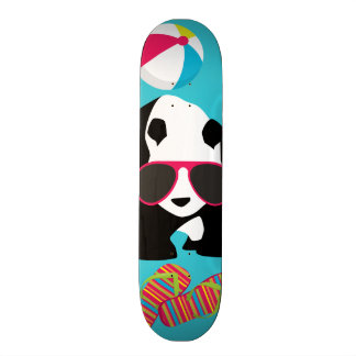 Funny Panda Bear Beach Bum Cool Sunglasses Surfing Skateboard