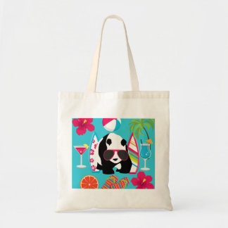 Funny Panda Bear Beach Bum Cool Sunglasses Surfing Tote Bag