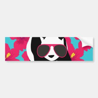 Funny Panda Bear Beach Bum Cool Sunglasses Tropics Car Bumper Sticker