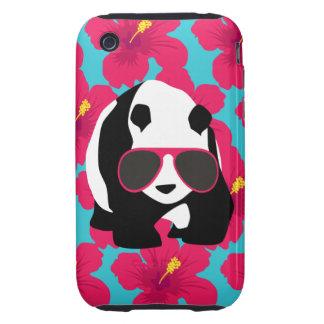 Funny Panda Bear Beach Bum Cool Sunglasses Tropics iPhone 3 Tough Cover