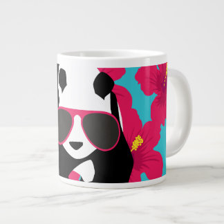 Funny Panda Bear Beach Bum Cool Sunglasses Tropics Giant Coffee Mug