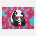 Funny Panda Bear Beach Bum Cool Sunglasses Tropics Towel