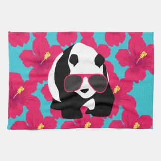 Funny Panda Bear Beach Bum Cool Sunglasses Tropics Kitchen Towel