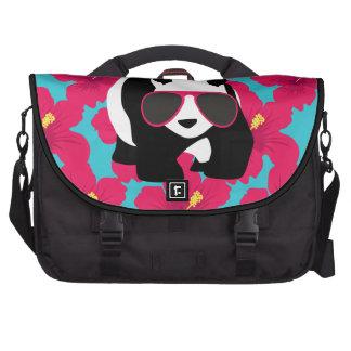 Funny Panda Bear Beach Bum Cool Sunglasses Tropics Laptop Bag