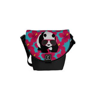 Funny Panda Bear Beach Bum Cool Sunglasses Tropics Messenger Bag